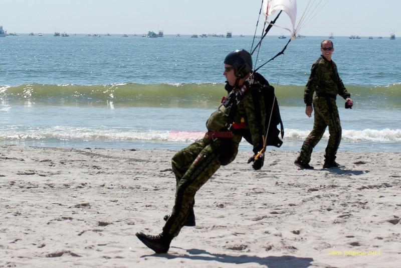Canadian Skyhawk Jumper - performing at The 2011 Atlantic City Air Show, August 17, 2011