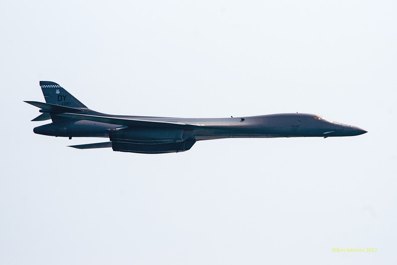 B-1 Bomber Flyby - Photos from the 10th annual Thunder Over The Boarwalk - 2012 Atlantic City Air Show, August 17, 2012