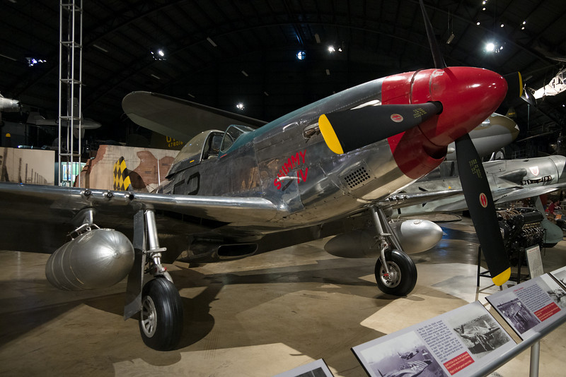 A P-51 Mustang on display.