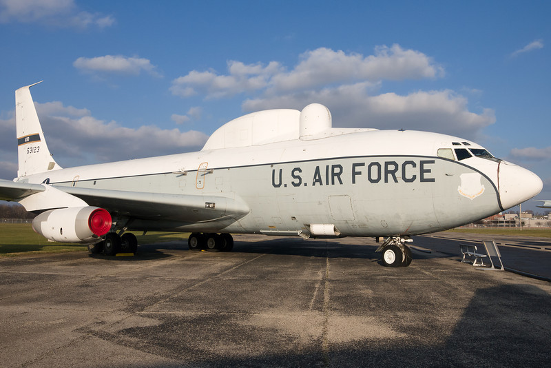 This C-135 was a mobile laser platform designed to test the ability of aircraft-mounted lasers.