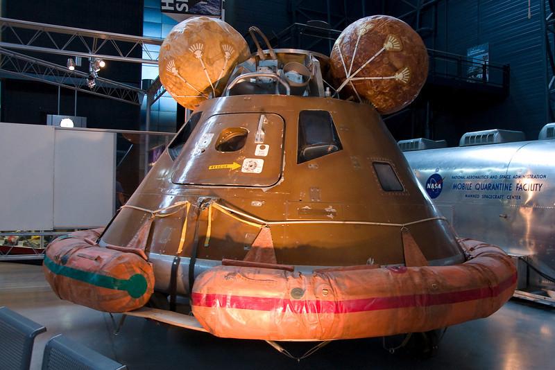 A Replica of the Apollo 11 command module.
