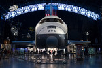 Washington Weekend : At the Udvar-Hazy Center and the Smithsonian Air and Space Museum. Located at Washington Dulles airport, The Udvar-Hazy center has a large collection of aircraft including the Space Shuttle and the SR-71 Blackbird.
