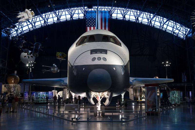 The Space Shuttle Enterprise.