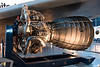 The engine for a space shuttle.