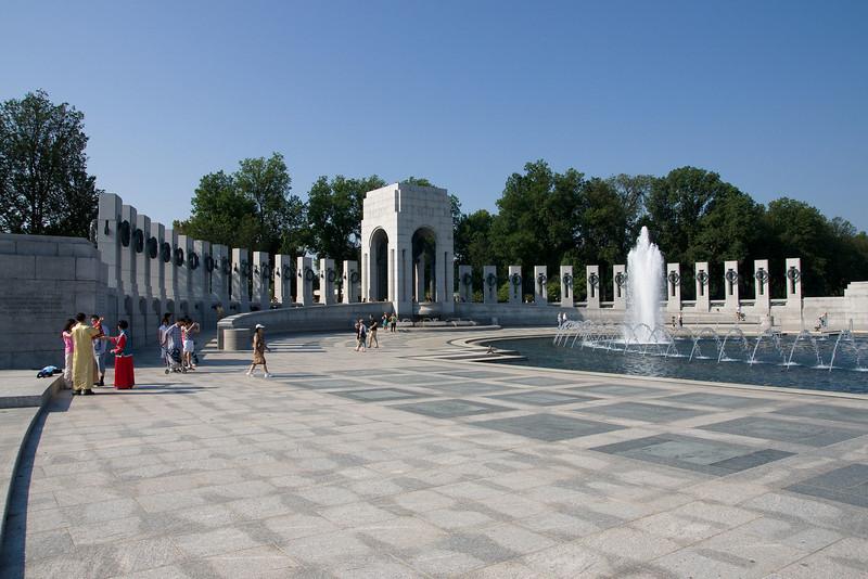 The World War 2 memorial.