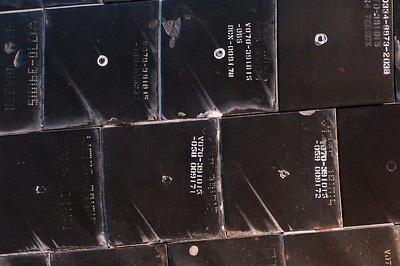 Space Shuttle Discovery - thermal tnsulation tiles with scorch marks from last re-entry into earth orbit