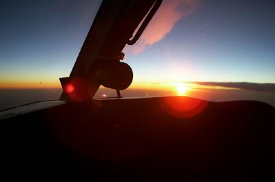 Sunrise over Portland, Oregon,USA (2001, Citationjet 525)