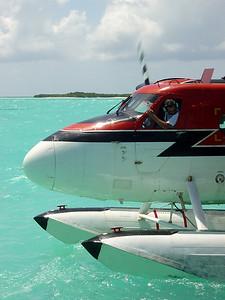 Parking a De Havilland Dash 6 at a Malidives Island.  (2005)