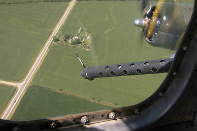 "The B-17G bomber ""Sentimental Journey"" somewhere over DeKalb County on August 15, 2006."