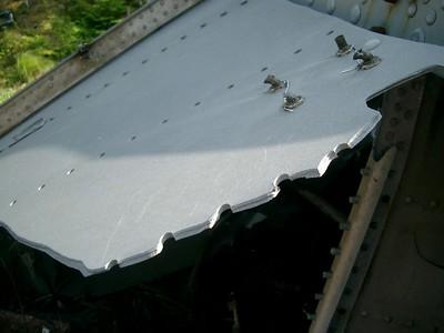 Thick aluminum - sheared at rivets