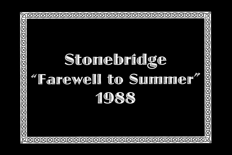 "STONEBRIDGE ""FAREWELL TO SUMMER""<br /> Stonebridge Ranch, McKinney, Texas - September 5, 1988"