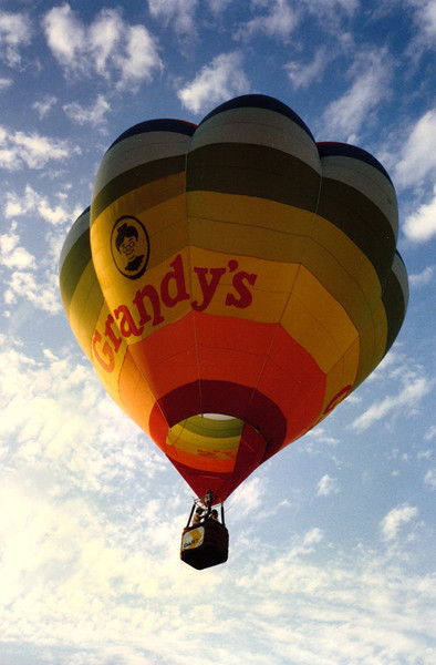 <i>GRANDY'S</i> And Pat's away in the Grandy's balloon. Grandy's was and still is a great homestyle restaurant with excellent food and great service.