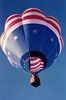 <I>RISING STAR</I> This is a really nice shot of the <i>Rising Star</i>, if I do say so myself. This at the Mesquite Balloon Festival in 1987.