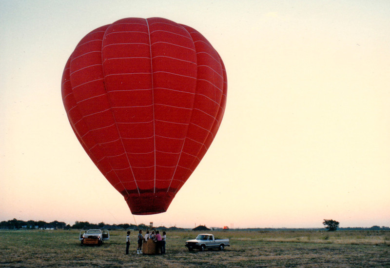 MORNING LAUNCH <i>Susie-Q</i> inflated and ready to launch.