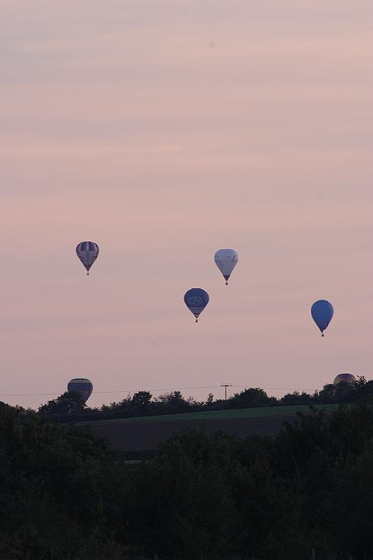 Hot Air Balloons Over Haddenham, Aug 2005
