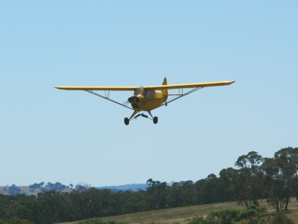 My 1/4 scale Cub on a low slow