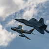 Lockheed Martin F-22 Raptor and F-86 Sabre