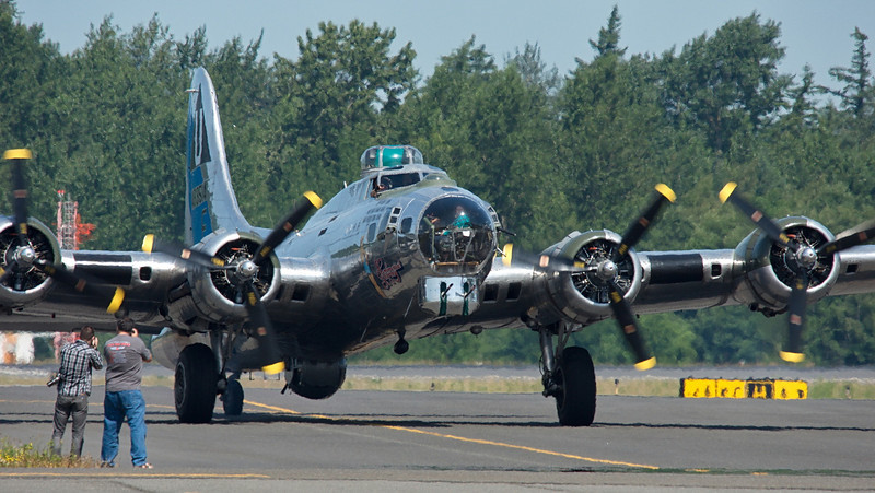 "B-17G ""Sentimental Journey"" from CAF Mesa, AZ... lots of heat shimmer"