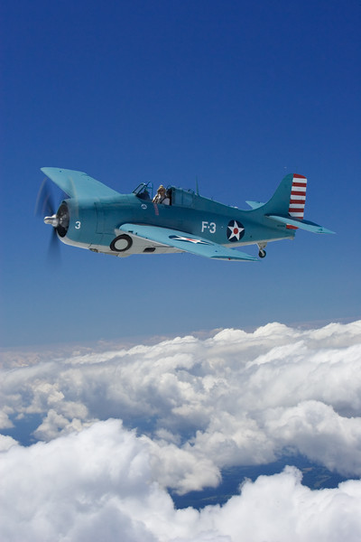 A Wildcat above the clouds near Akron, Ohio.