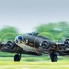 B-17G 'Memphis Belle' takes off in Hamilton, Ontario.