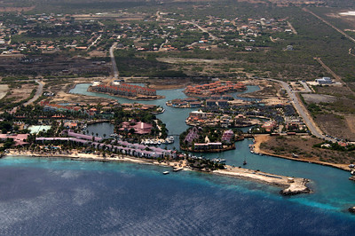 Birdview Bonaire from the sky