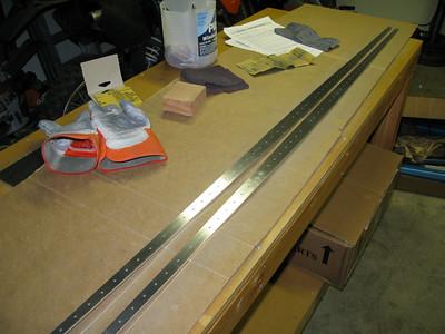 Horizontal stabilizer rear spar stiffeners.