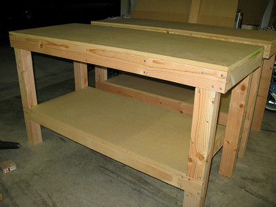 Two completed EAA work tables.