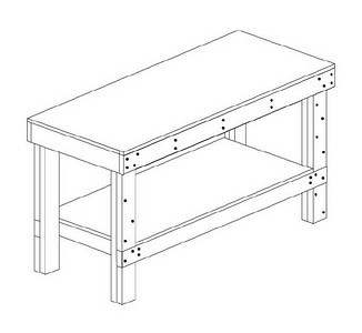 This is a drawing of the EAA work tables I built for my project.