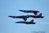Double Fravel<br /> Performing one of their most difficult maneuvers, the flight leader ant the slot pilot roll inverted and move into the Diamond formation for the Double Farvel.