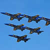 The Blue Angels arrived in their classic Delta formation.