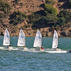 On Saturday, I watched the airshow from downtown Tiburon.  These little ones were getting a sailing lesson.  The motor boat was pulling them.