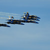 On Saturday, the Blue Angels flew in over Tiburon to start the show.