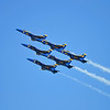 We caught our first glimpse ofs the Blue Angels as they flew overhead on their way to the Golden Gate Bridge.