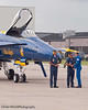 Blue Angel Pilot Congratulates His Flight Crew