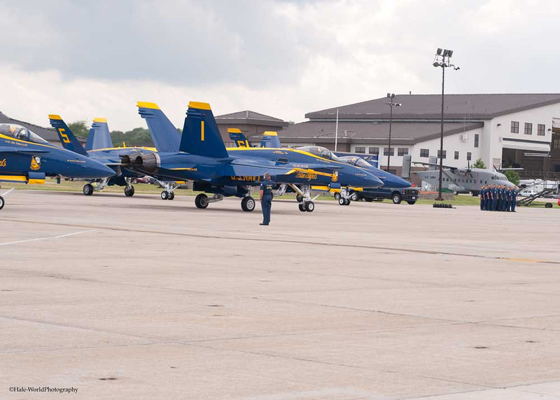 CAPT Greg McWherter, FlightLead/Commander, In Blue Angel #1 Taxis Down The Flight Line To Lead the Team Into Flight