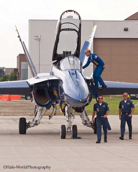 CAPT Greg McWherter Climbs Out Of His F/A-18 Hornet
