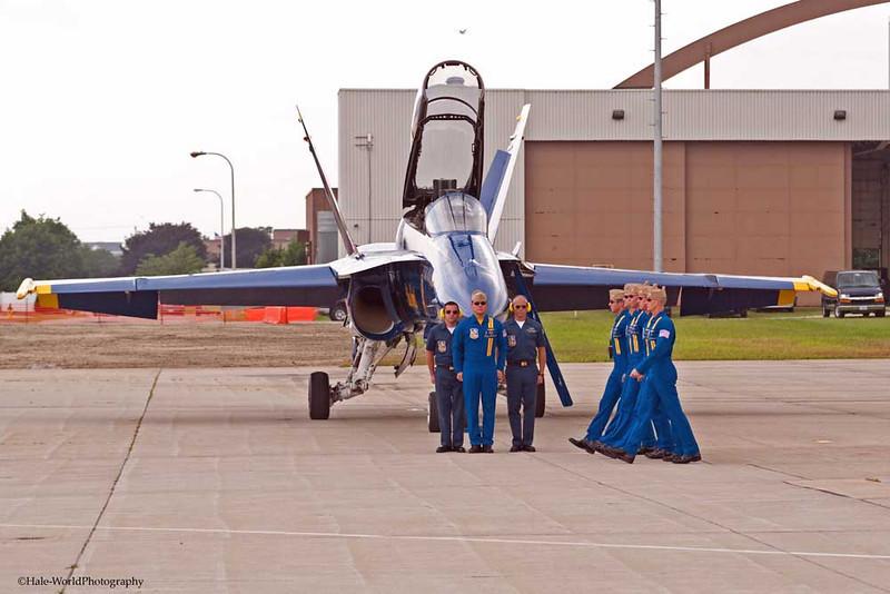 Upon Completion of Flight Demonstration CAPT Greg McWherter's Pilots March To Him
