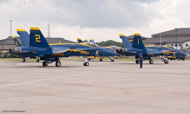 LCDR Jim Tomaszeski, Blue Angel #2, Follows CAPT Greg McWherter Down The Flight Line