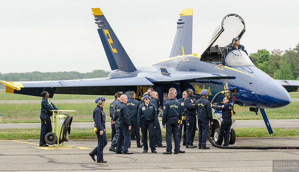 How many crew does it take to fuel a Blue Angel? :)