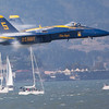 Blue Angles approach Sound Barrier in San Francisco