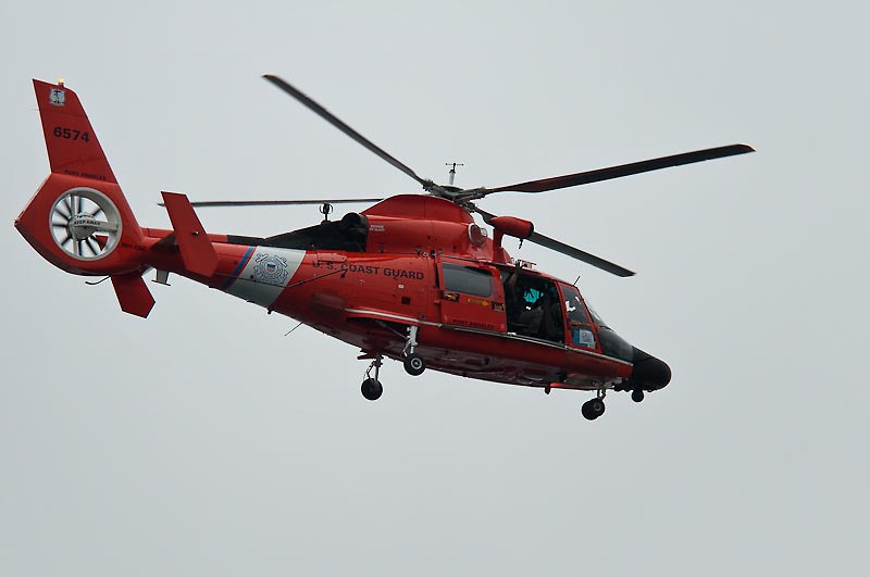 The Coast Guard had to do its pass over the flight pattern before the show.