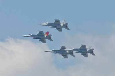 4 Superhornets from VFA-31, Tomcatters based out of Naval Air Station, Oceana, VA