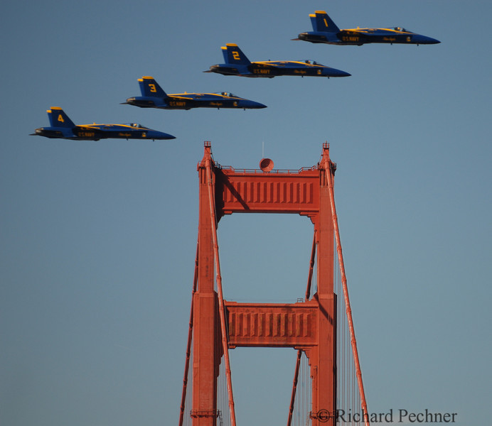 Tails 1,2,3 & 4 passing over South Tower
