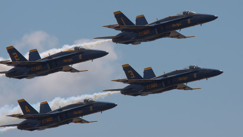 Blue Angels 2011 (standard processing. Compare with HDR edition)