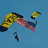 National Anthem Demonstration by the USN Seal Parachute Team - Leap Frogs