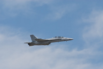 SuperHornet High Speed pass along the crowd line