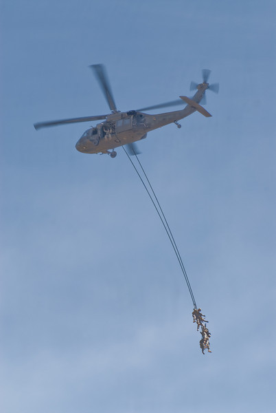 Extraction from a Blackhawk Helo