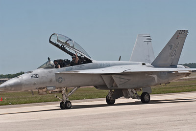 "F/A 18 SuperHornet of VFA-106 ""Gladiators"" squadron from Oceana Naval Air Station"