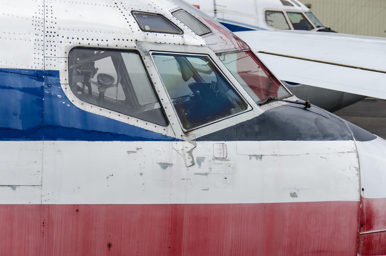 My old office window. Boeing 727-223, American Airlines, N874AA