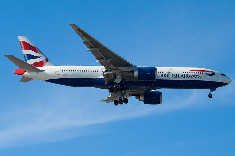 The BA 777 is on final for 04R.